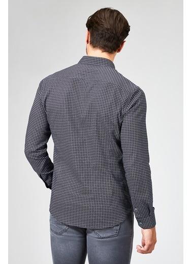Avva Desenli Slim Fit Uzun Kollu Gömlek Siyah